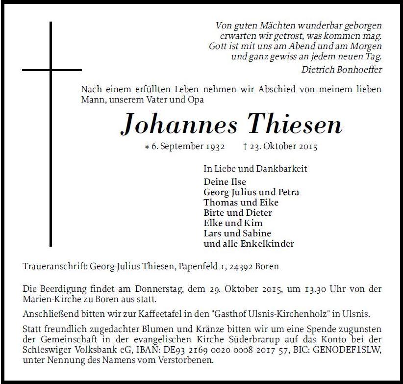 Johannes Thiesen